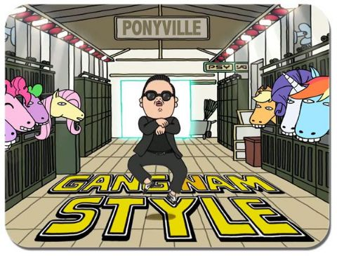 Gangnam Style Mouse Mat. K-Pop Dance Novelty Mouse pad